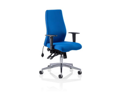 Onyx Ergo Posture Chair Black Fabric Blue