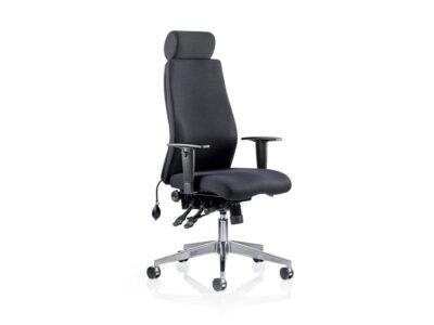 Nyra – Curved Fabric Executive Chair with Headrest