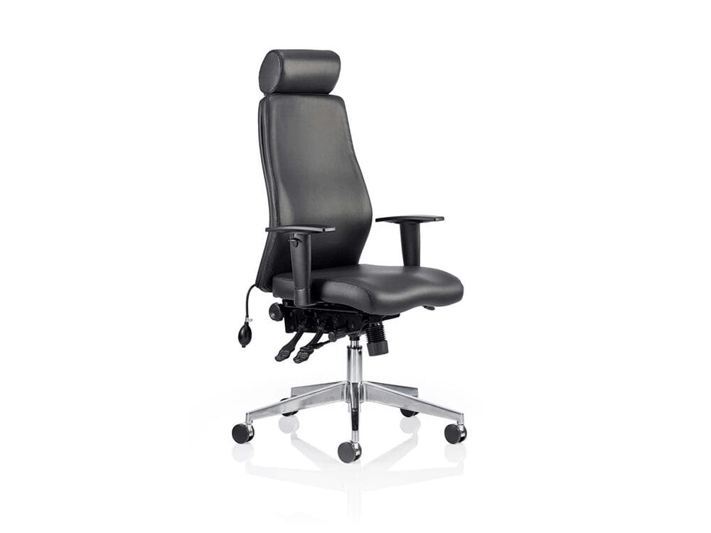 Nyra – Bonded Leather Curved Executive Chair with Headrest