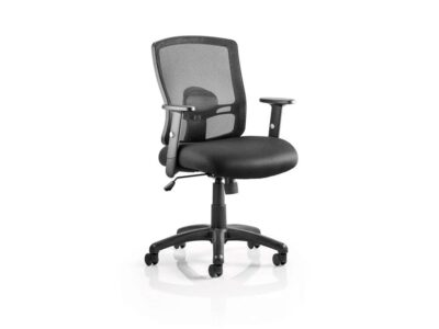 Oregon – Task Operator Office Chair in Black Mesh with Arms