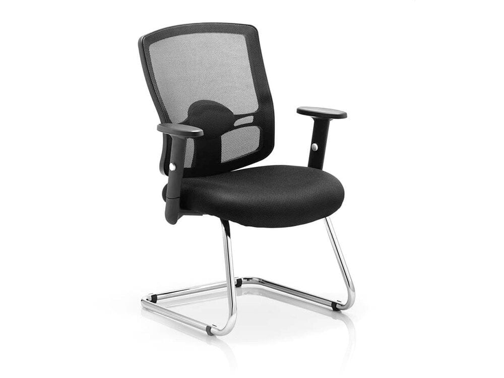 Oregon – Chrome Cantilever Visitor Chair with Mesh Back