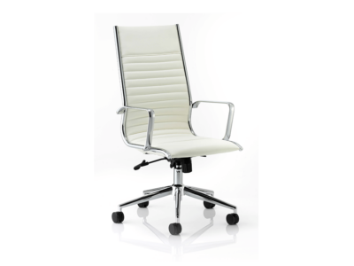 Ritz Executive Chair Multicolor Bonded Leather High Back With Arms Ivoy