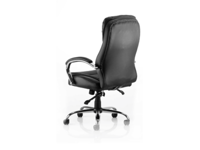 Rocky Executive Chair Black Leather High Back Back