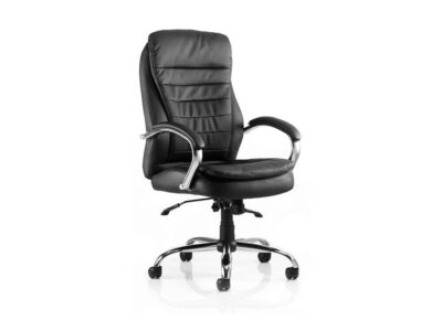Edison – Black Leather High Back Executive Chair