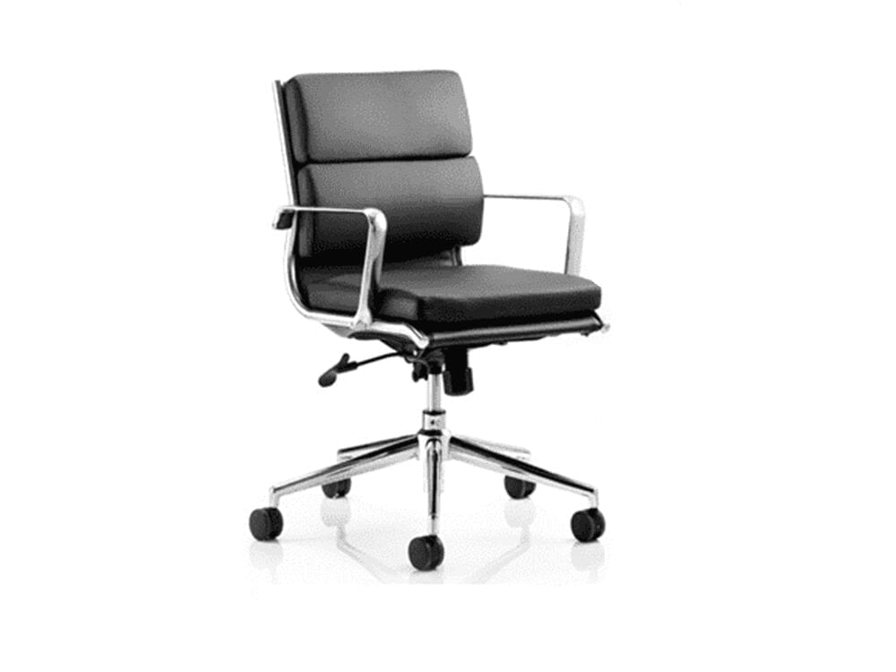 Ivy – Medium Back Leather Executive Chair with Arms