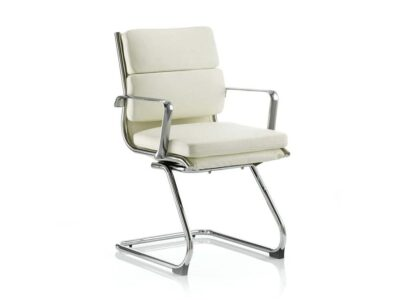 Ivy – Leather Cantilever Visitor Chair with Arms