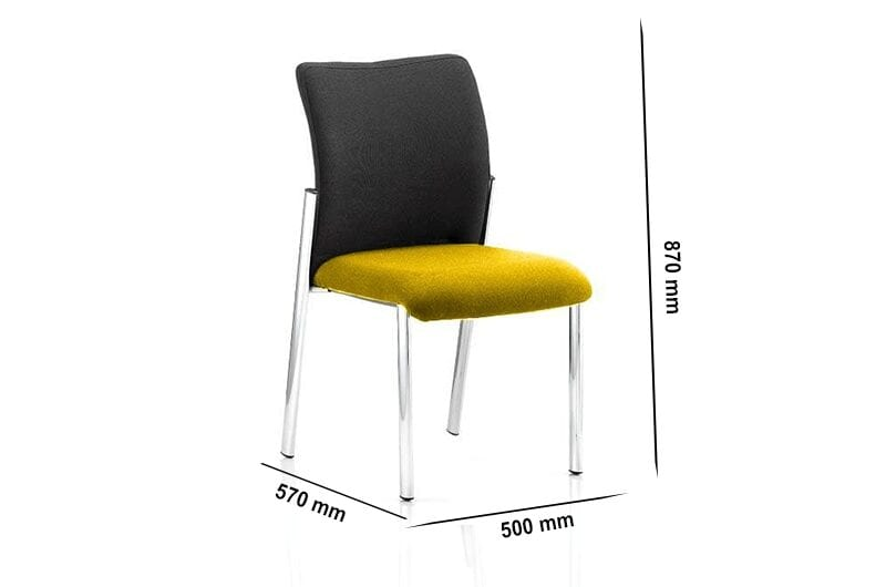Elio – Visitor Chair in Multicolour without Arms