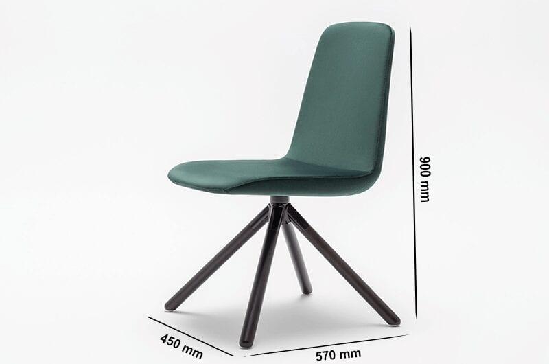 Ren – Modern Chair with Wooden Legs