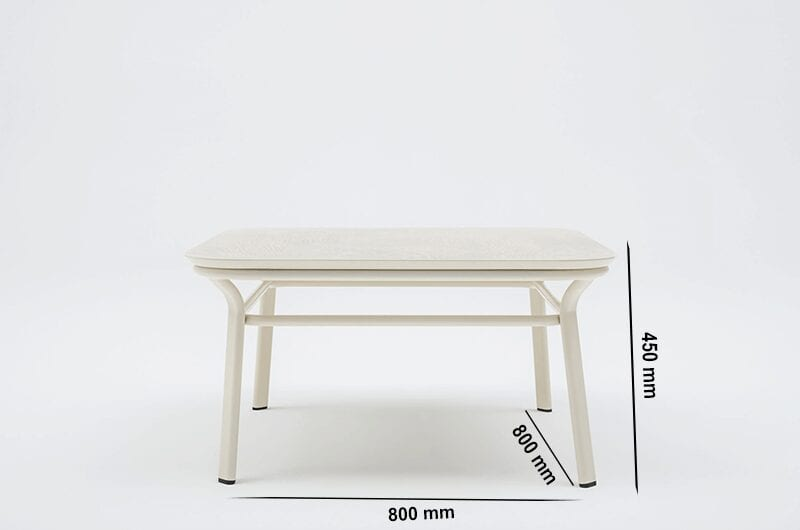 Apollo – Square Wooden Table with Metal Frame