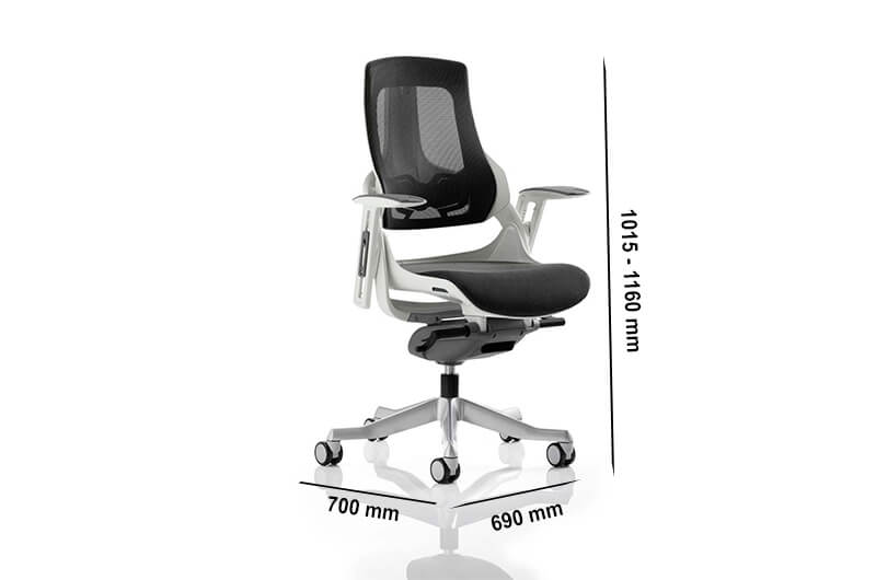 Size Ares – Mesh Executive Chair With Adjustable Arms