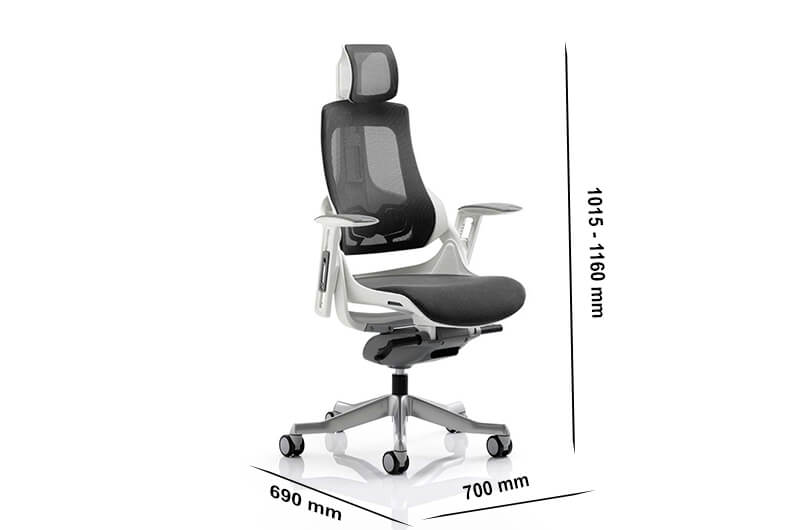 Size Ares – Mesh Executive Chair With Arms And Headrest