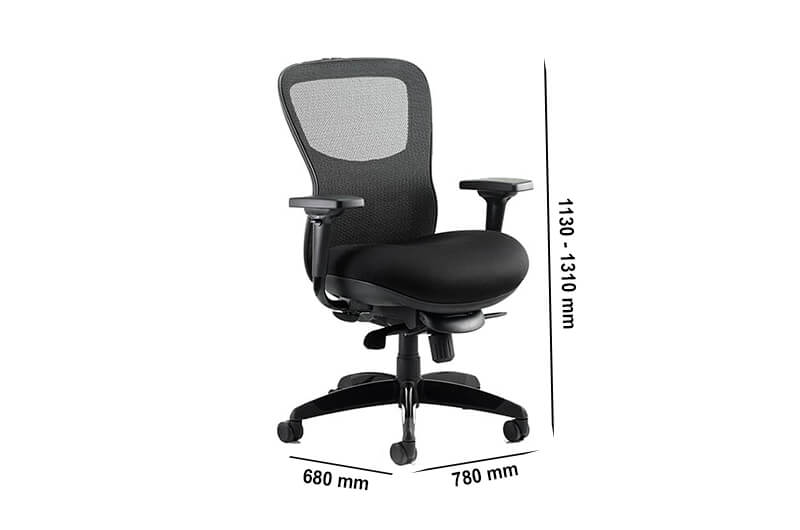 Size Bond – Mesh Back Operator Office Chair With Airmesh Seat In Black