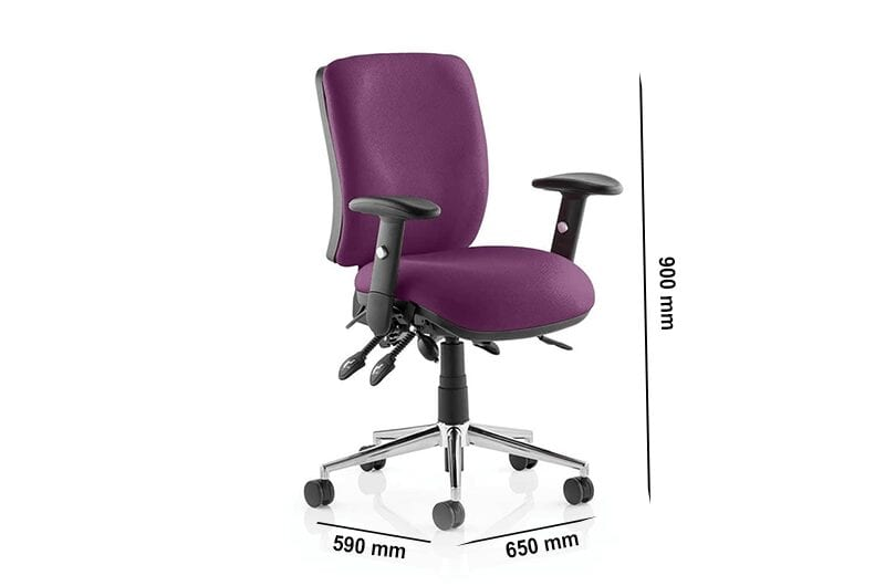 Selena 4 – Multicolour Medium Back Operator Office Chair with Arms