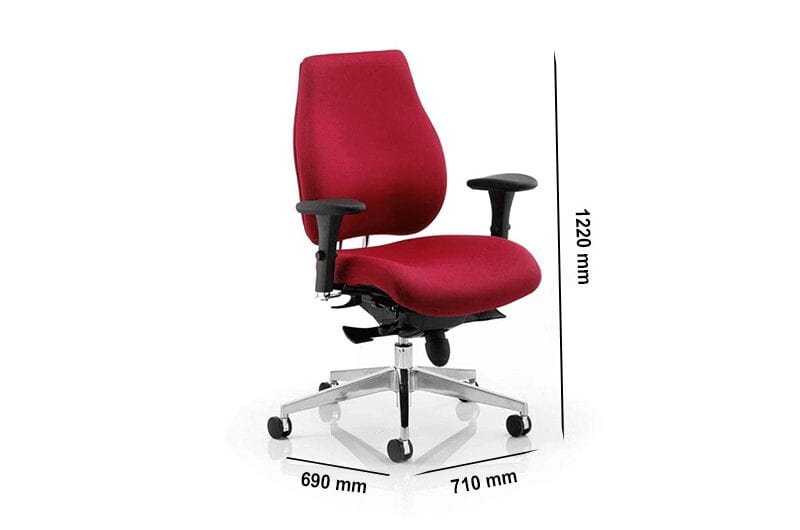 Selena 7 – Task Operator Office Chair with Arms in Wine