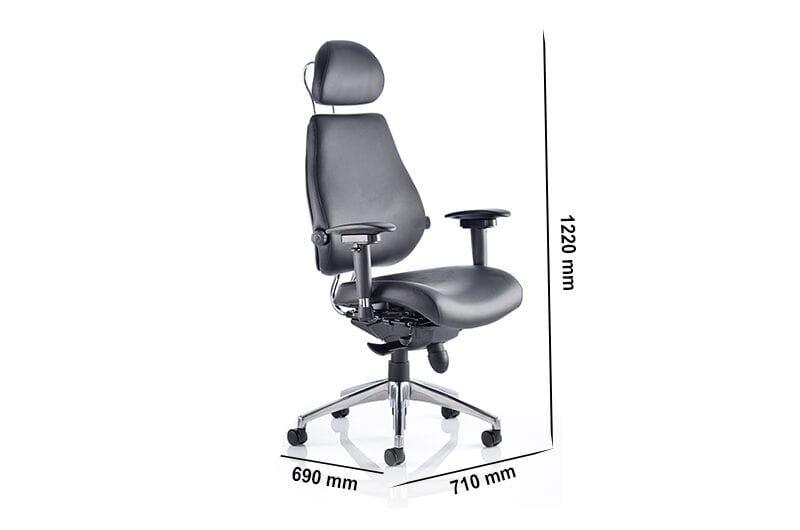 Selena – High Back Bonded Leather Executive Chair with Headrest