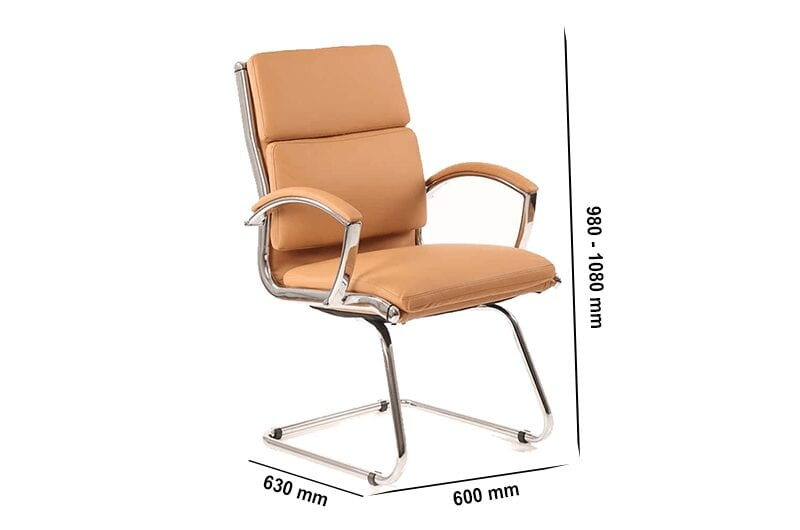 Arthur – Leather Bonded Cantilever Visitor Chair with Arms