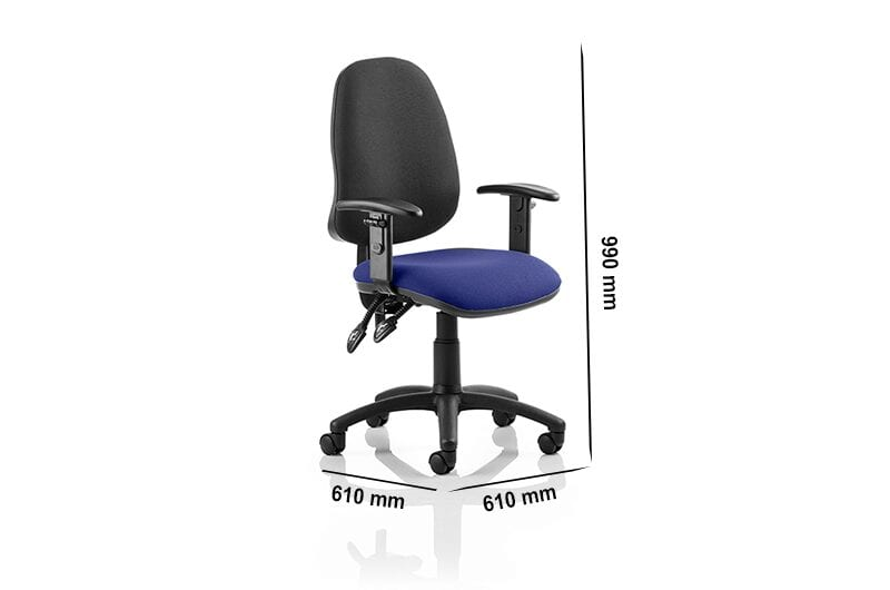 Esme 2 – Multicolour Operator Office Chair with Arms