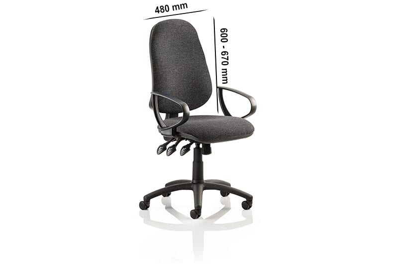 Esme XL 3 – Fabric Operator Office Chair with Loop Arms