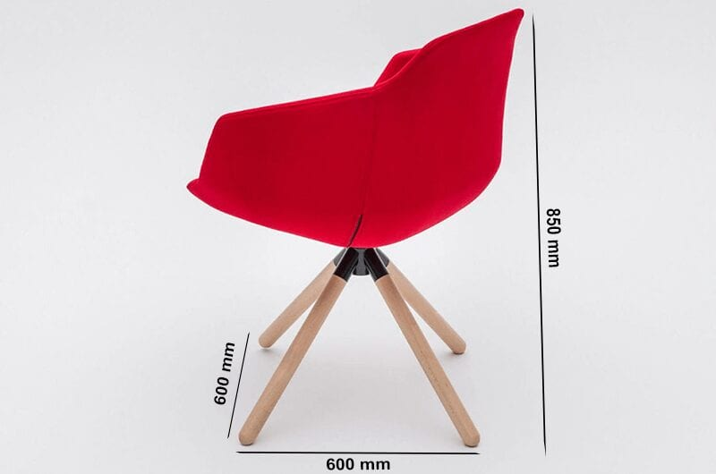 Monroe – Multicolour Armchair with Wooden Trestle Base