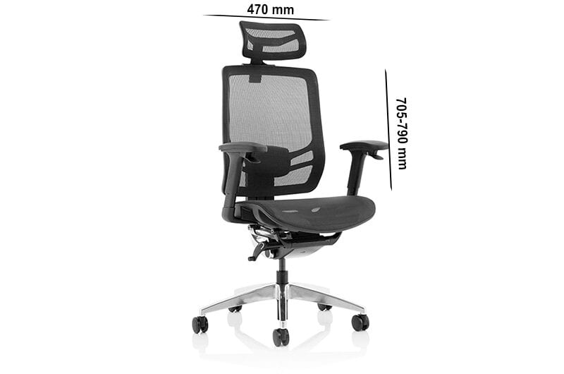 Milton – Black Mesh Executive Chair with Headrest