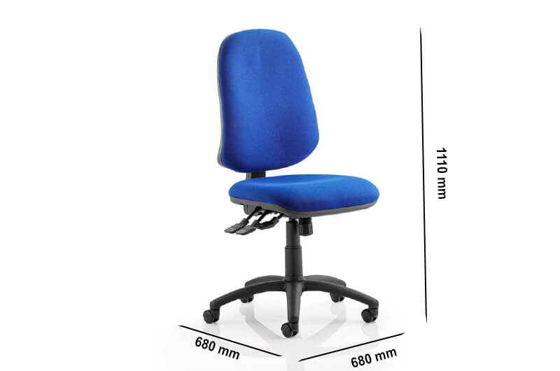 Size Esme Xl 3 – Fabric High Back Operator Office Chair Without Arms
