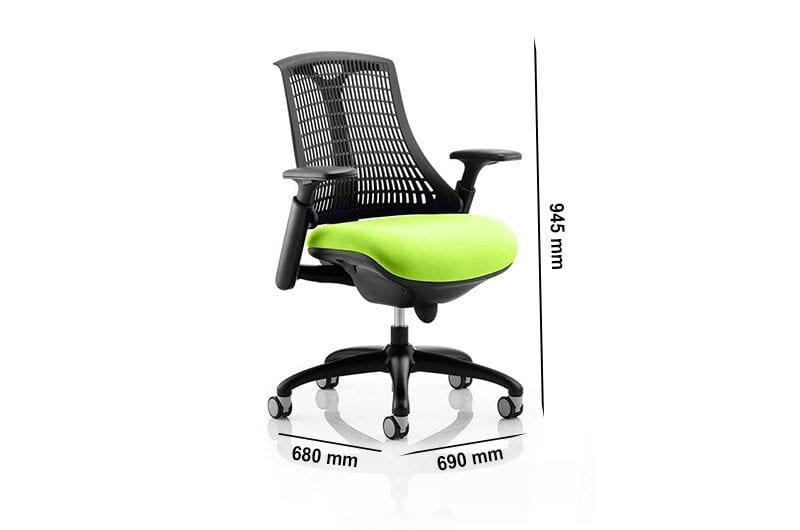 Echo – Flexible Back Operator Office Chair in Multicolour