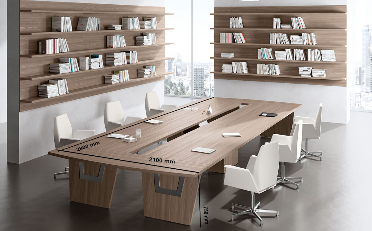 Size Gene – Straight Top Boardroom Table (1)