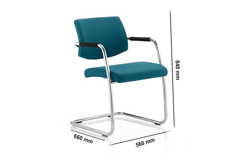Velma – Multicoloured Cantilever Visitor Chair with Arms