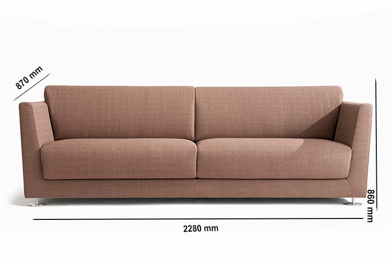 Size Jones – High Back Three Seater Sofa In Multicolour