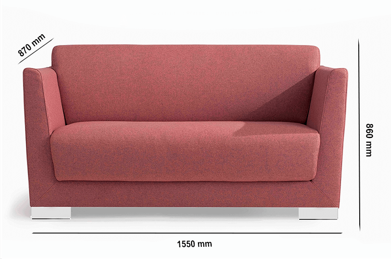 Size Jones – High Back Two Seater Sofa In Multicolour