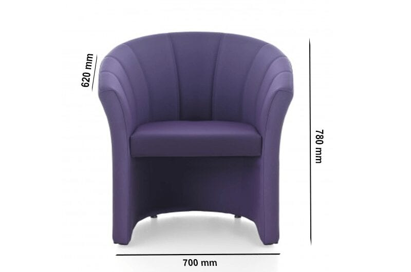 Shell – U-Shaped Armchair in Multicolour