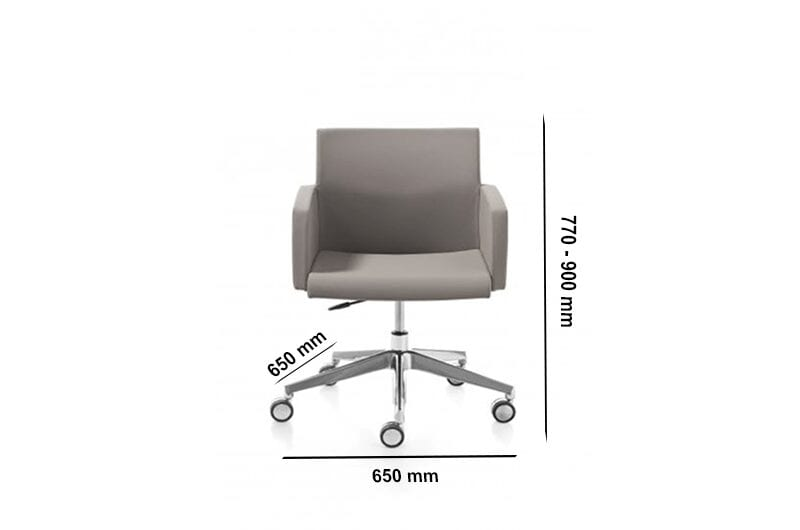 Vernon – Multicolour Armchair with Five-Star Wheel Base