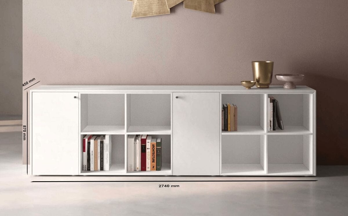 Dion – Wood Finish Sideboard with Modular Units