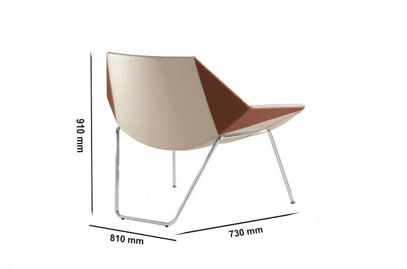 Duo – Medium Back Armchair with Metal Legs