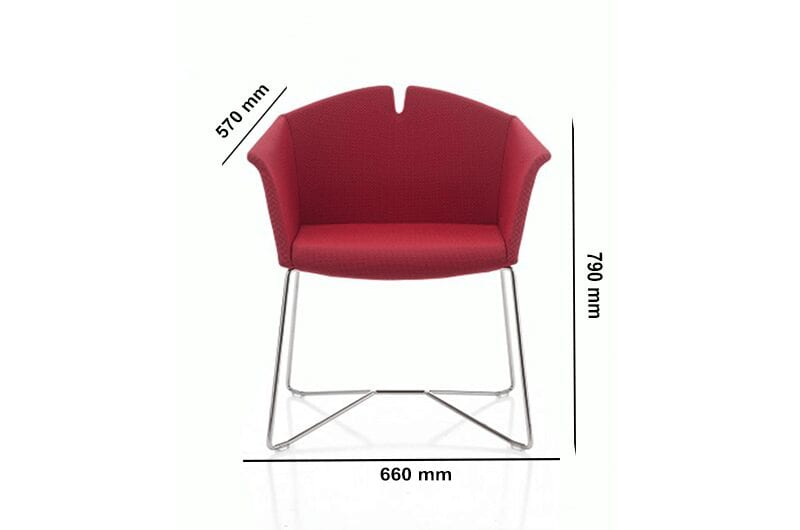 Jett – Armchair in Multicolour with Sled Frame