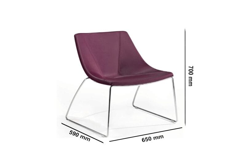 Dune – Confy Fabric chair with Metal legs