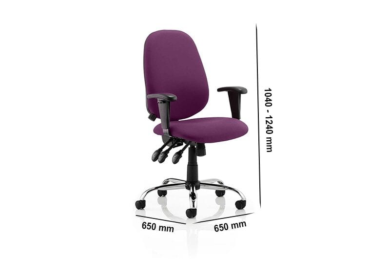 Praia – Operator Office Chair with Adjustable Arms in Multicolour