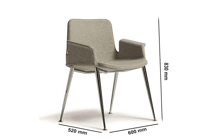 Juliet – Winged Armchair Straight Aluminium Frame