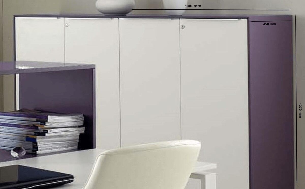Clio – Medium Height Filing Cupboards with Lockable Doors