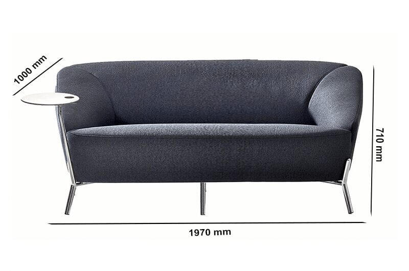 Santos – Multicolour Three-Seater Sofa with Attached Table