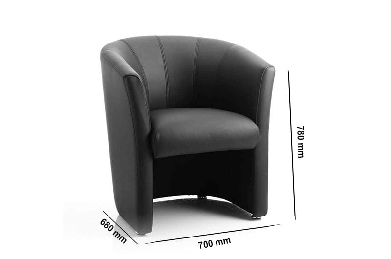 Atlas – Single Tub Reception Chair