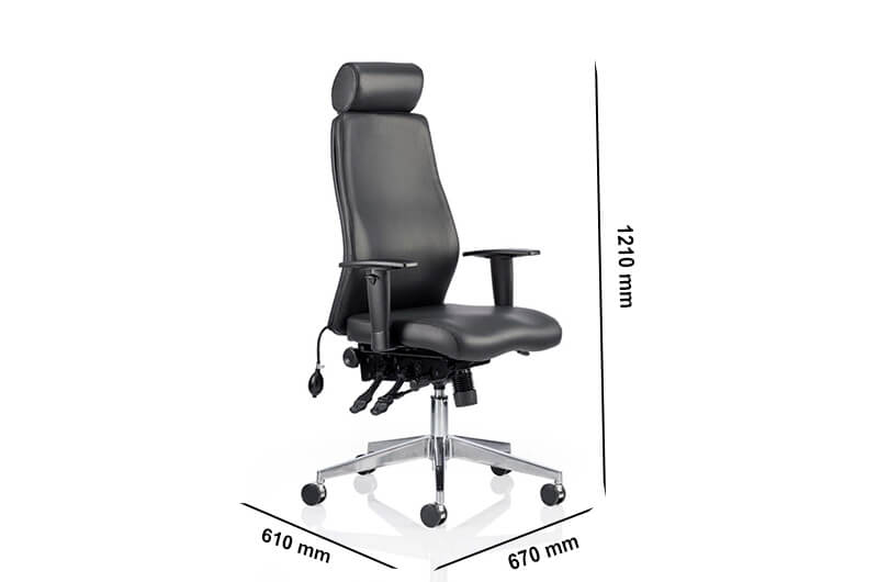 Size Nyra – Bonded Leather Curved Executive Chair With Headrest