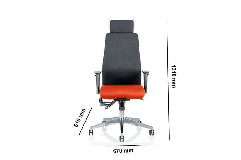 Size Nyra – Curved Task Executive Chair With Multicolour Seat
