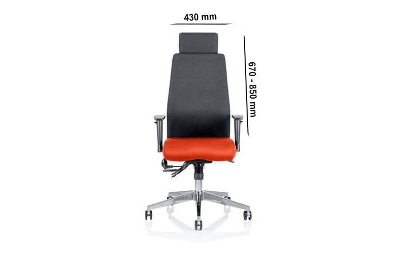 Nyra – Curved Task Executive Chair with Multicolour Seat