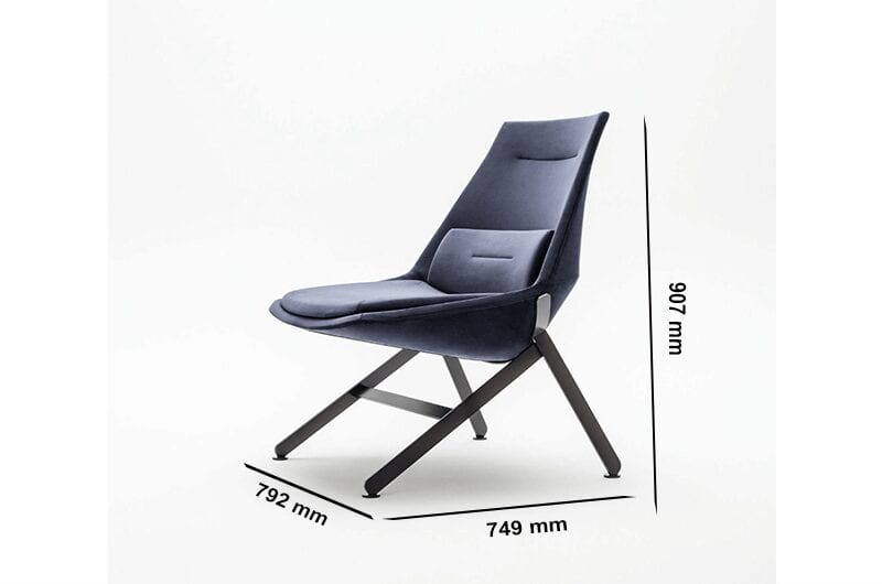 Lusso – Designer Fabric Armchair with Metal Legs