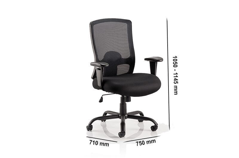 Oregon HD – Black Mesh Back Operator Office Chair with Adjustable Arms
