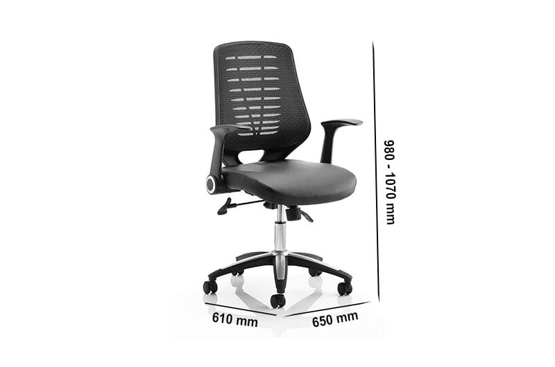 Parker – Task Operator Office Chair in Black Mesh with Arms
