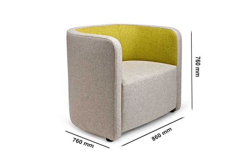 Sydney – Medium Back Single Seater Armchair in Multicolour