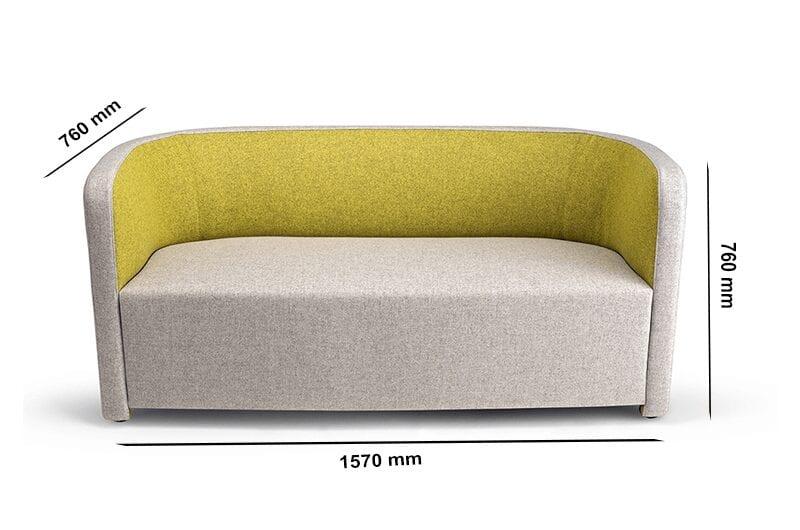 Sydney – Fabric Medium Back Two-Seater Sofa in Multicolour