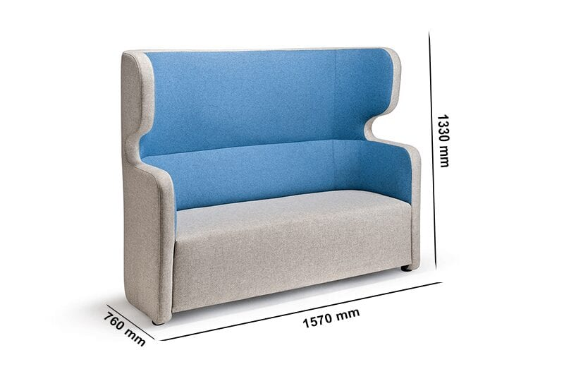 Tokyo – High Back Two-Seater Armchair